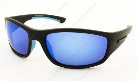 Gafas de espejo, cristales azules