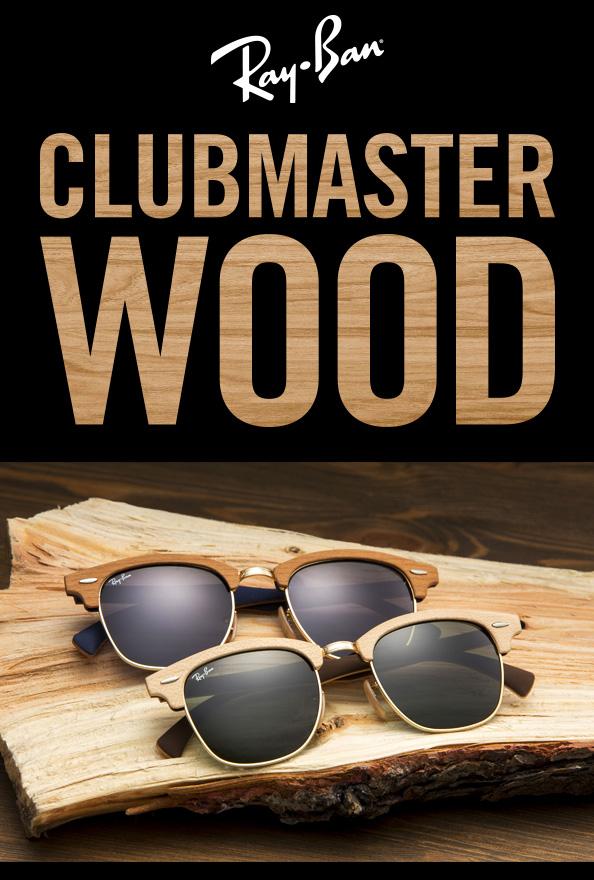ray ban clubmaster de madera