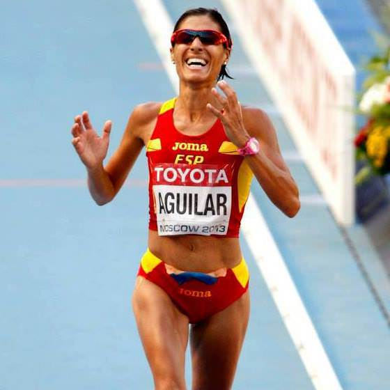 Alessandra Aguilar con la seleccion española
