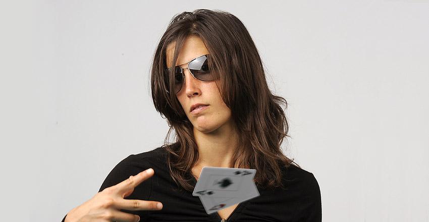 Leo Margets, jugadora de poker