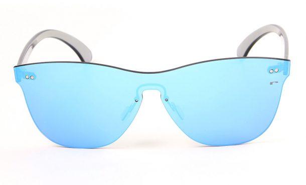 Gafas de sol de espejo sin montura todolente, gafas de moda 2017