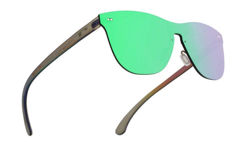 Gafas espejo sin montura, las gafas de sol todo lente
