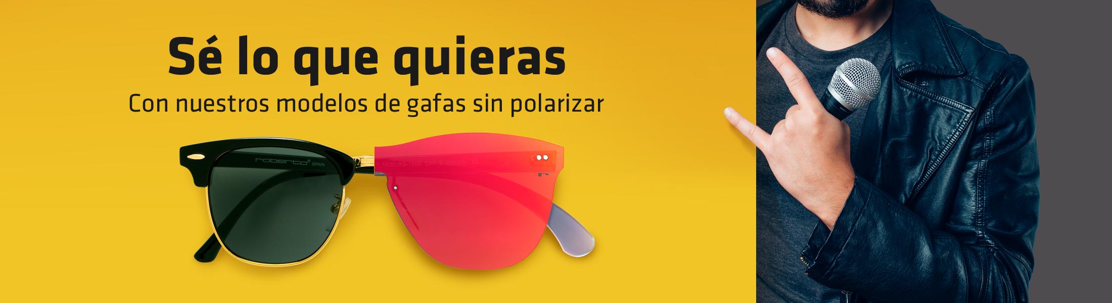 gafas de sol sin polarizar