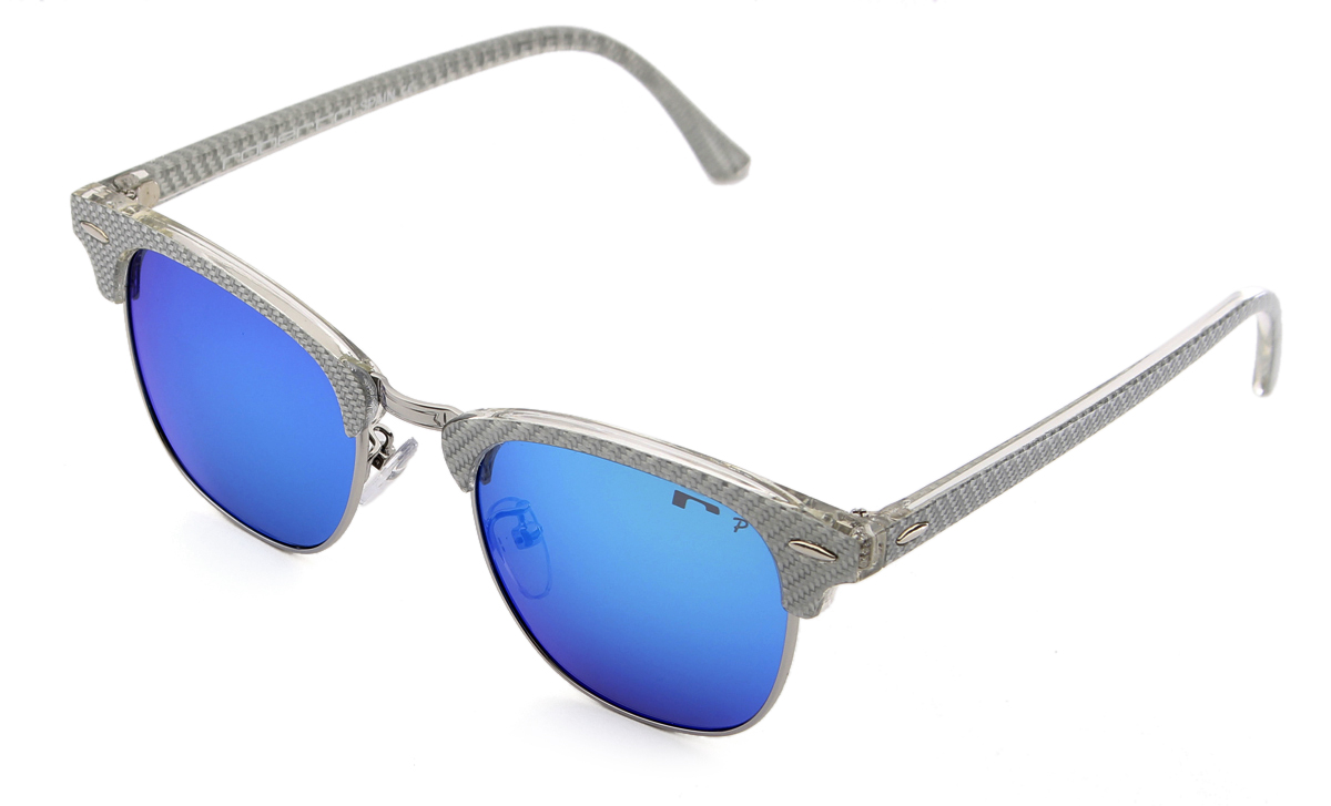 Gafas de sol 2018 tipo clubmaster de fibra de vidrio
