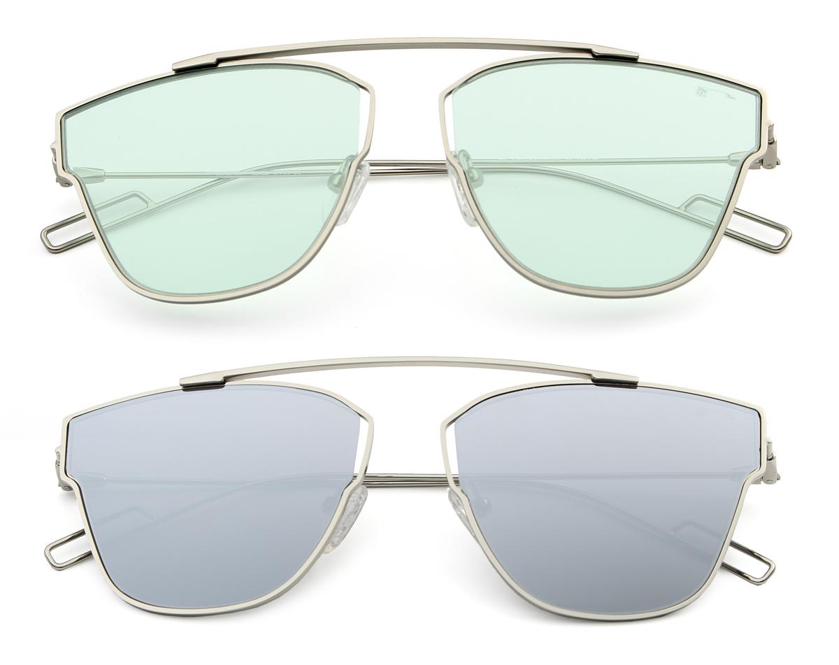 Gafas de sol 2018 con lentes transparentes y de espejo