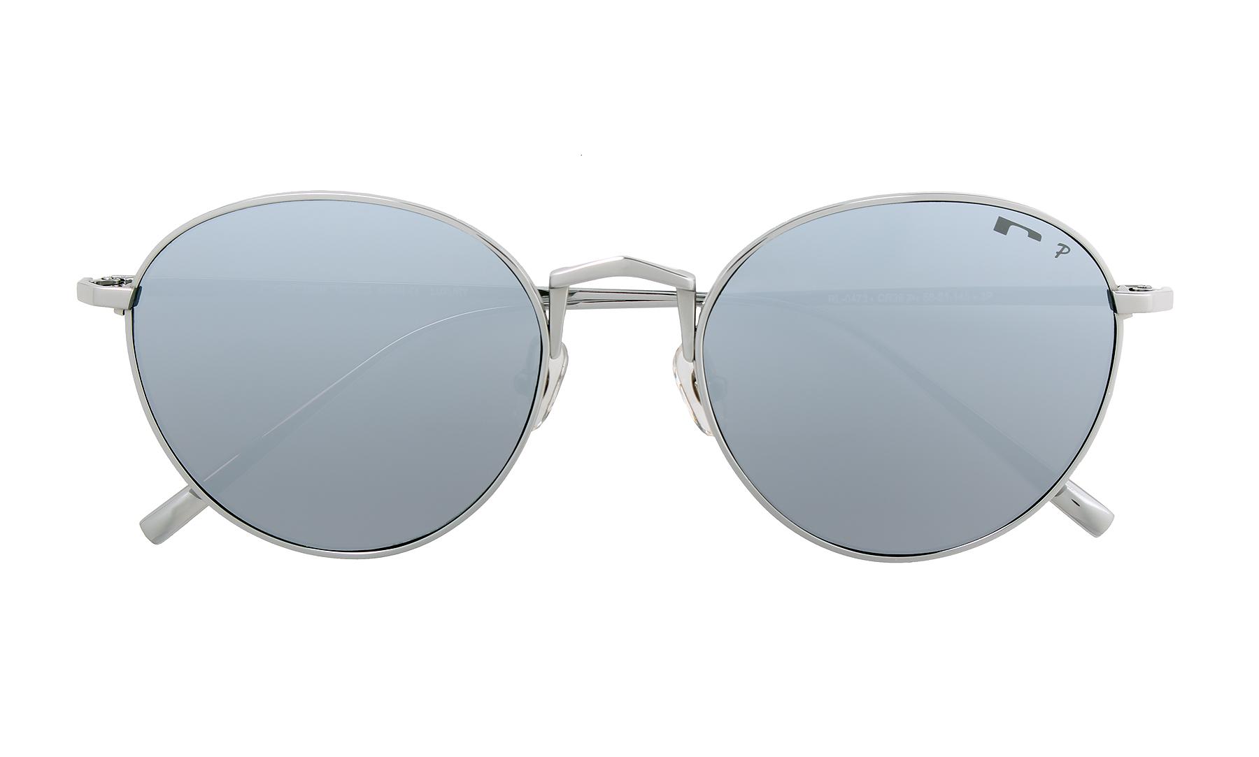 Gafas de sol 2018 tipo round metal de espejo plateado
