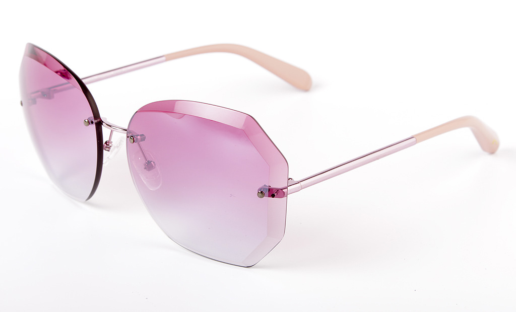 Gafas de sol oversized xxl en rosa
