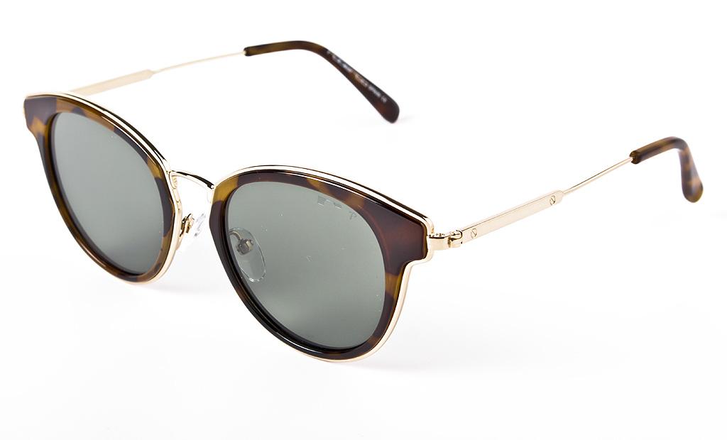 ba7ef567a0 De estilo intelectual y moderno, las gafas de sol redondas de puente  metálico, lentes en verde degradado y montura efecto carey ya no solo son  para los ...