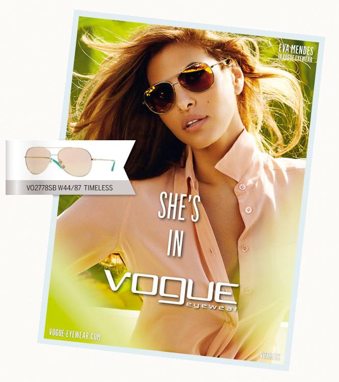 Vogue elige a Eva Mendes para su campaña 2013