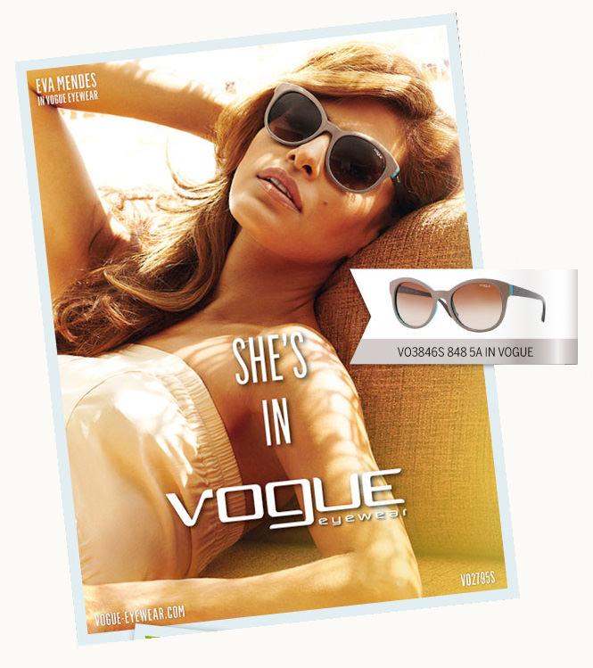 Eva Mendes imagen de Vogue gafas de sol 2013