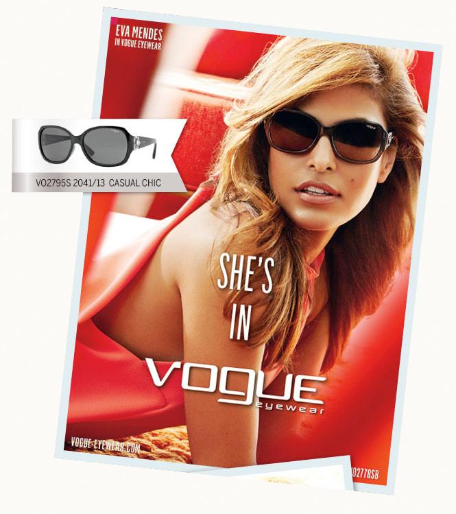 Eva Mendes con gafas de sol Vogue en 2013