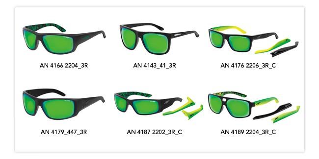 Gafas de sol de espejo verde Arnette Citrus