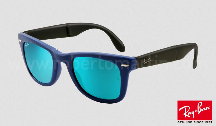 ray ban wayfarer lentes espejo azul