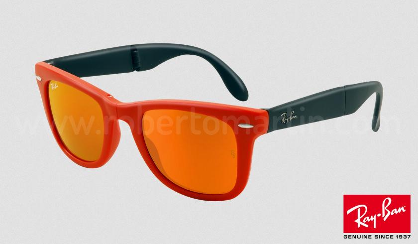 ray ban wayfarer lentes espejo naranja