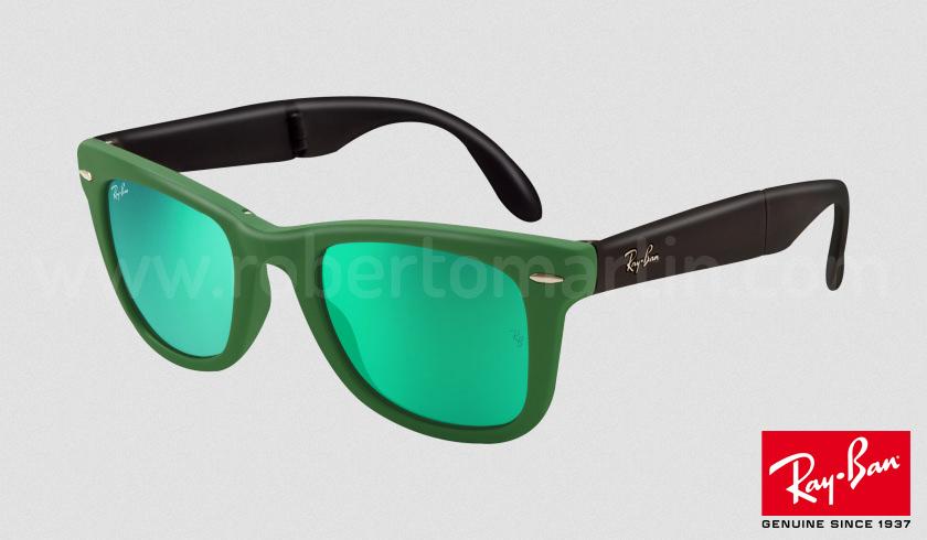 ray ban wayfarer con lentes de espejo de colores