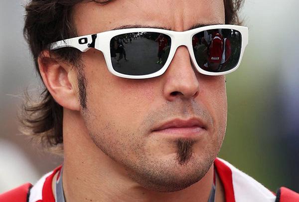 Fernando Alonso con Oakley Jupiter Square