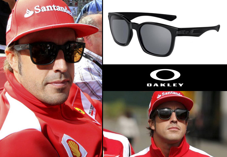 Fernando Alonso con gafas Oakley Garage Rock