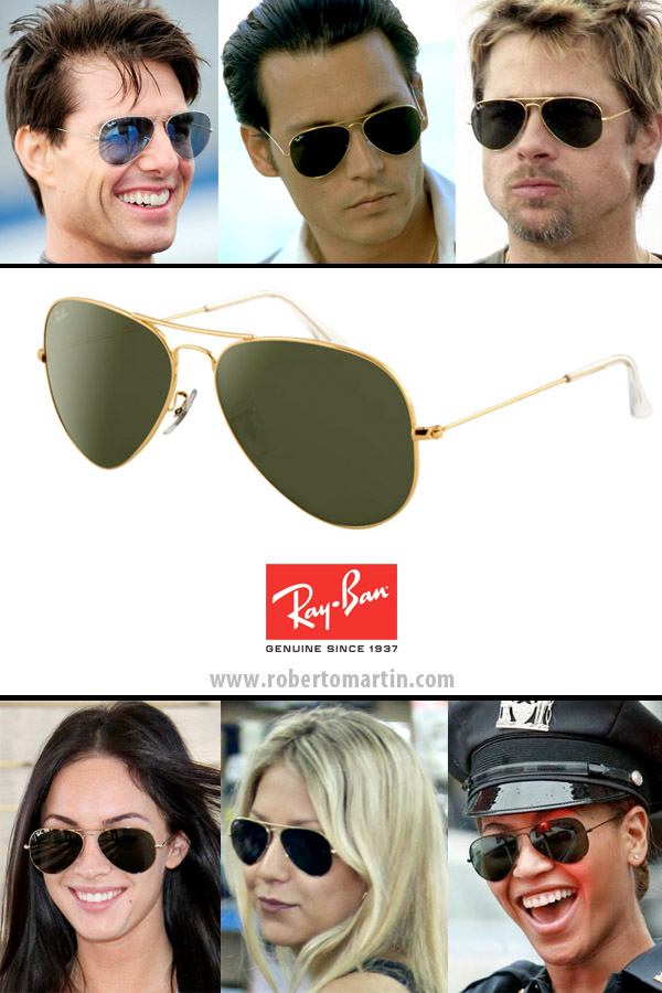 lentes ray ban aviator de colores