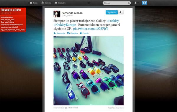 Twitter de Fernando Alonso