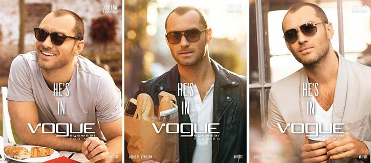 gafas de sol de hombre Vogue con Jude Law